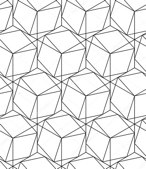 black hexagon pattern black and white geometric seamless pattern with line and