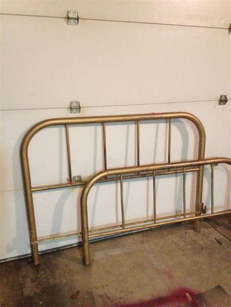 brass bed headboard footboard vintage river ranch items