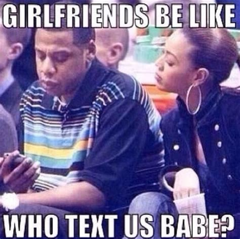 Beyonce Jay Z Meme - beyonce and jay z texting trust issue girlfriends be like
