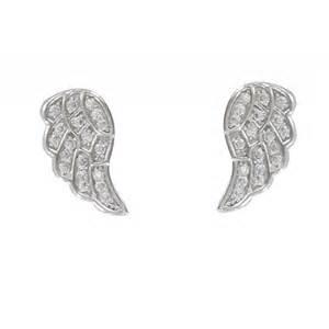 boucles d oreilles argent aile d ange et strass