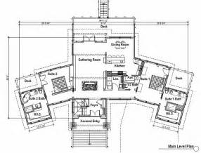 one bedroom guest house floor plans with master suites story two plan