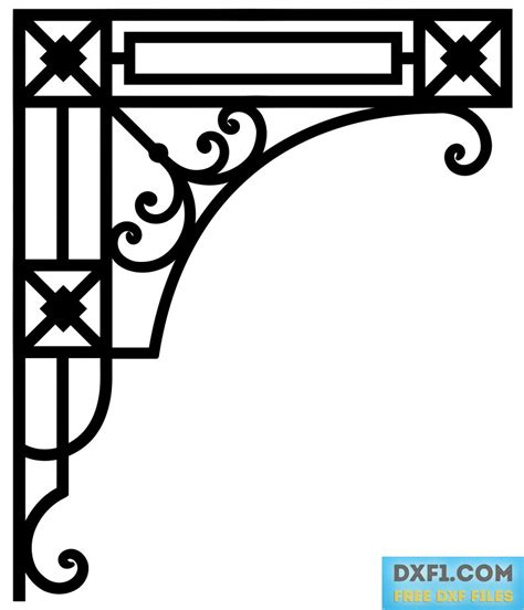 corner pattern vector cdr corner vector dxf cnc file cd free dxf files free cad