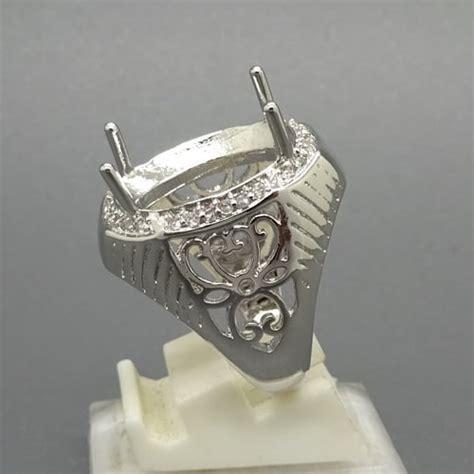 Dijamin Senter Batu Cincin Model Pulpen Silver cincin perak silver yang elegan pusaka dunia