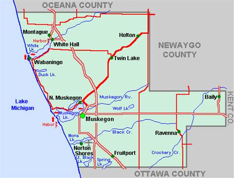 Muskegon County Property Records Map Of Muskegon Michigan Michigan Map