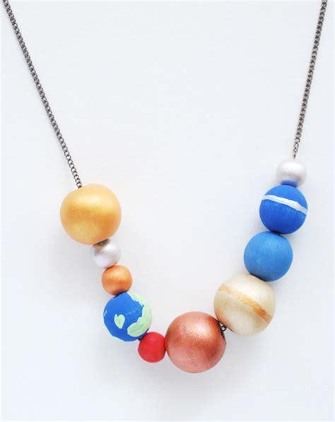Solar System Handmade - make a stellar solar system necklace handmade
