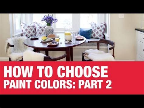 how to choose paint how to choose paint colors part 2 ace hardware youtube