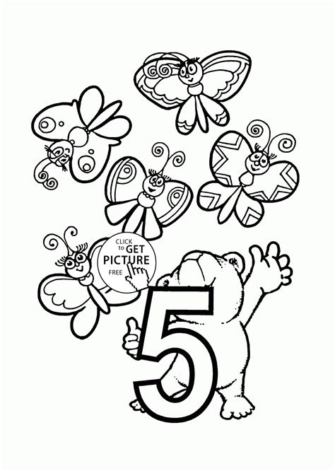 Number 5 Coloring Pages For Toddlers by Number 5 Coloring Page Free Printable For Toddler Pages