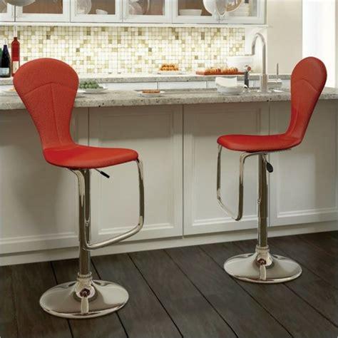 rote barhocker rote barhocker bringen eleganz zu jeder k 252 che