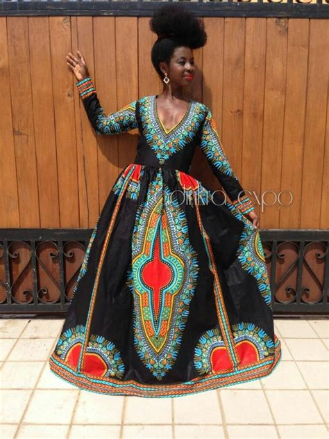 Afrina Dress dashiki gown dashiki dress prom dress ankara