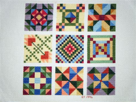 Cross Stitch Quilt Blocks journey of a quilter sweet and delicious