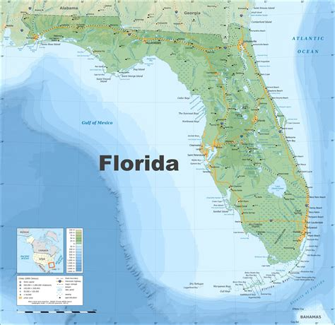 map of florida earth florida physical map