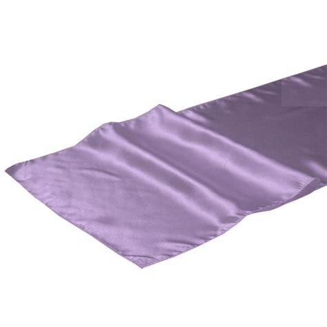 Purple Table Runners by Cachet Mauve Smokey Purple Satin Fabric Table Runner