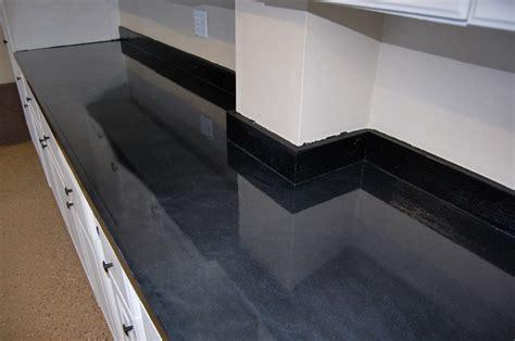 Garage Floor Paint On Countertop Garage Floor With Earthtone Flakes And Black Metallic