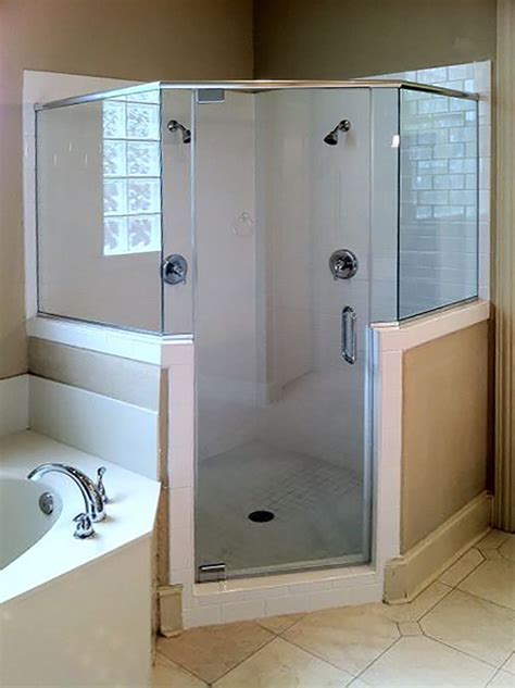 Neo Angle Shower Enclosures Shower Doors Of Dallas Custom Neo Angle Shower Doors