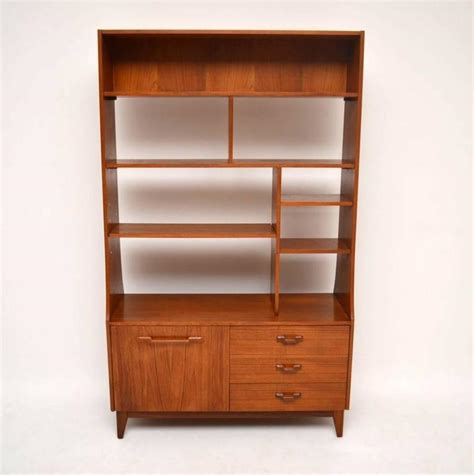 teak retro bookcase cabinet or room divider vintage