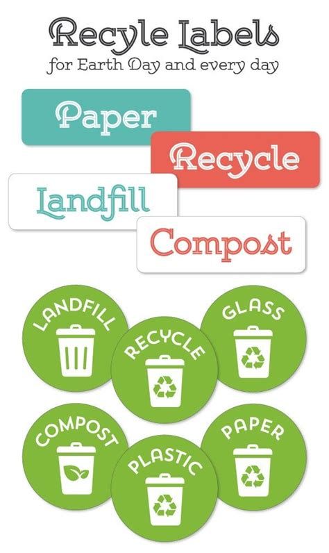 printable recycle stickers 25 best ideas about recycling center on pinterest
