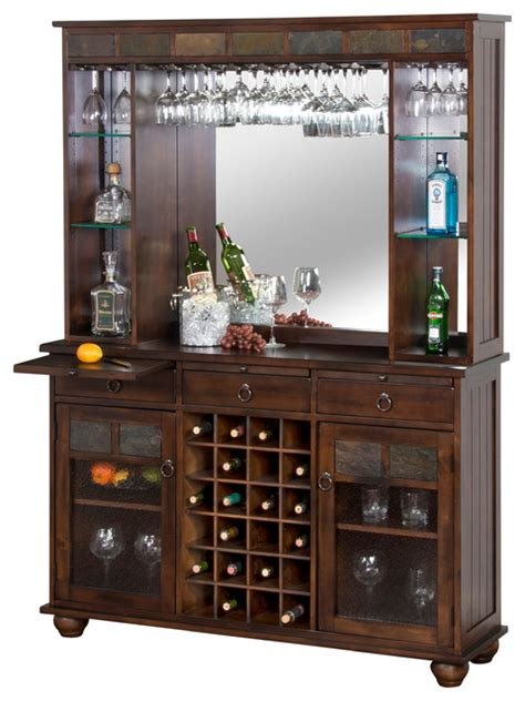 wine servers and bar cabinets designs inc santa fe server and back bar wine