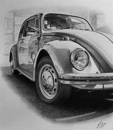 volkswagen bug drawing vw beetle drawing