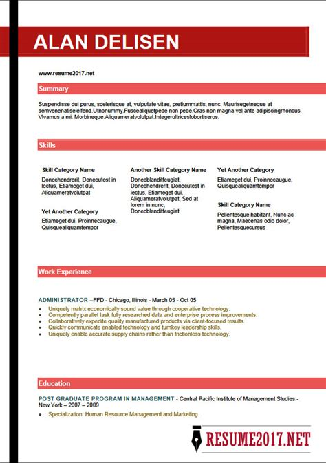Download Best Resume by Resume Format 2018 16 Latest Templates In Word