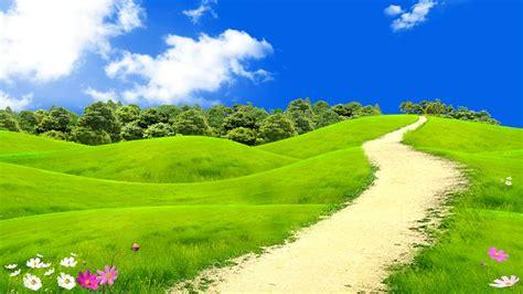 dreamy grass field   hills fantasy art hd wallpaper