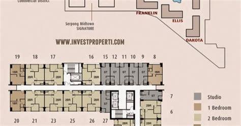 gambar floor plan serpong midtown residence serpong