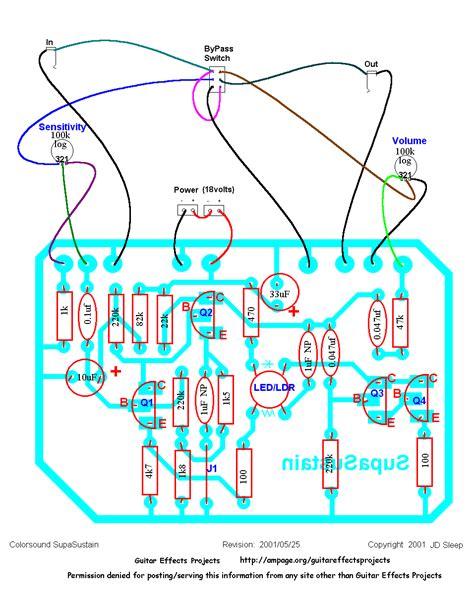 sustainer guitar effects schematics wiring diagrams