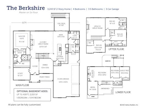 berkshire floor plan the berkshire harlow builders inc