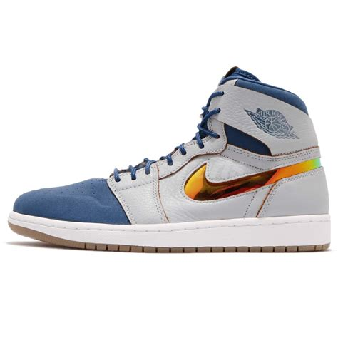 retro nike basketball shoes nike air 1 retro high nouveau wolf grey mens