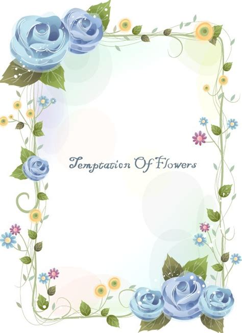 flower design for project free page border designs for projects with flowers