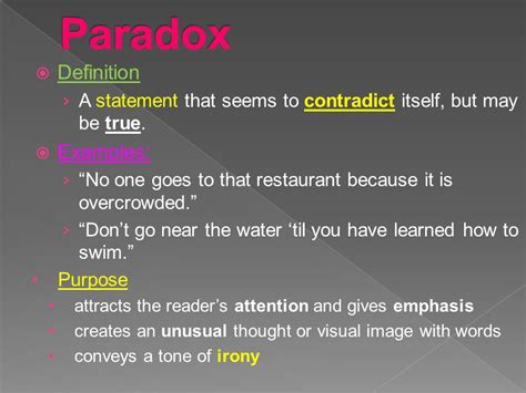 exle of paradox figurative language ppt