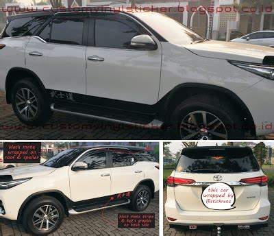 Fortuner Ad1501b Black Blue stickrenz toyota fortuner white black mate roof spoiler wrapp text