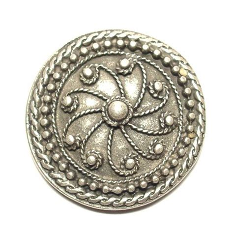 decorative rivet antique silver coloured finish 3