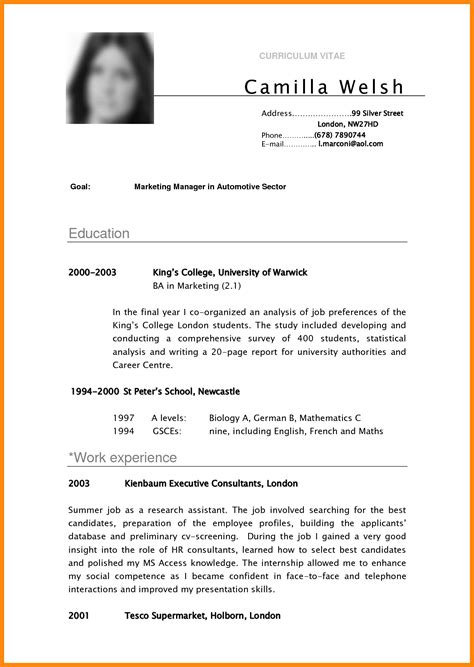 Resume Sample Singapore Pdf by 4 Undergraduate Student Cv Examples Nurse Resumed