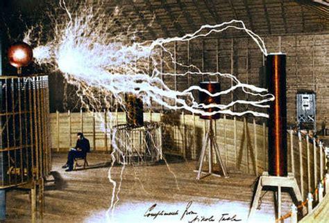 Tunguska Tesla Above Nikola Tesla In His Colorado Laboratory With