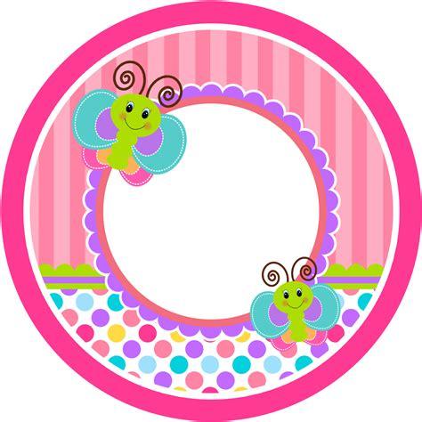 imagenes infantiles redondas divertida mariposa etiquetas para candy buffet para