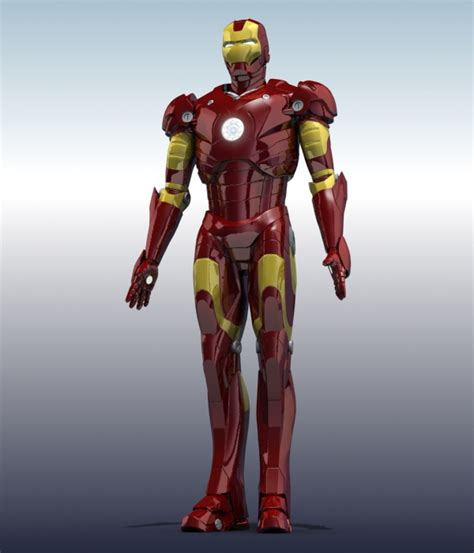 Skullring Ironman iron 3d model