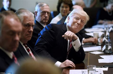 trump s first cabinet meeting trump s first cabinet meeting members praise him daily