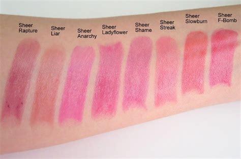Decay Sheer Revolution Lipstick Sheer Flower decay sheer ladyflower sheer revolution lipstick review