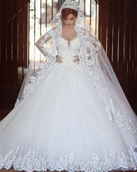 cathedral royal train wedding dress said mhamad 2016 ball