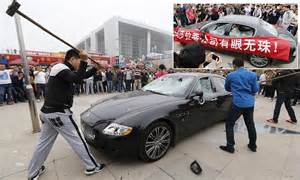 Maserati Uk Dealers Owner Destroys 163 276 000 Maserati At Car Show In China Just