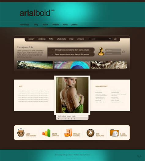 desain layout halaman web inspirasi layout desain web dari deviantart idfreelance