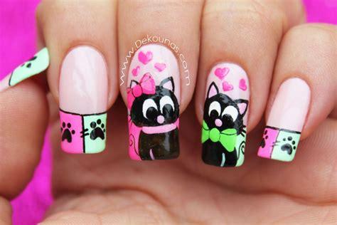 imagenes decoraciones de uas decoraci 243 n de u 241 as gatos enamorados deko u 209 as moda en