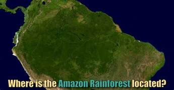 where is the amazon rainforest located map amp facts