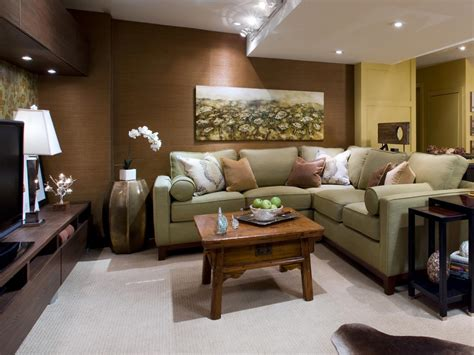 decorating ideas for family room basement renovation transforms a cold space into a warm
