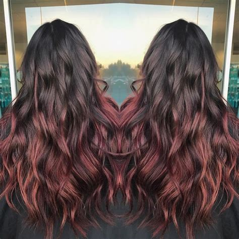hairstyles with mahogany highlights 25 best ideas about mahogany highlights on pinterest