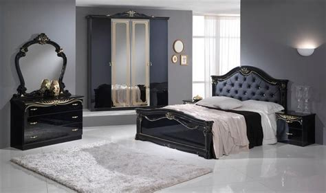 Stylish Black Italian High Gloss Bedroom Furniture Stylish Bed Sets