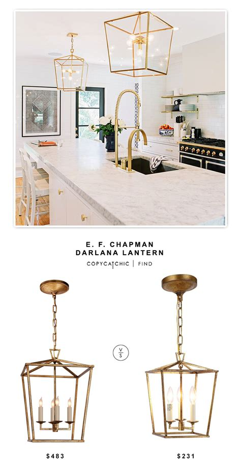 does the pendant light and the chandelier over the table e f chapman darlana lantern copycatchic
