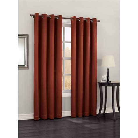 lowes thermal curtains shop allen roth benwick 84 in l solid paprika thermal