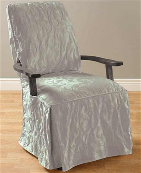 dining room arm chair slipcovers sure fit matelasse damask dining room chair slipcover slipcovers for the home macy s