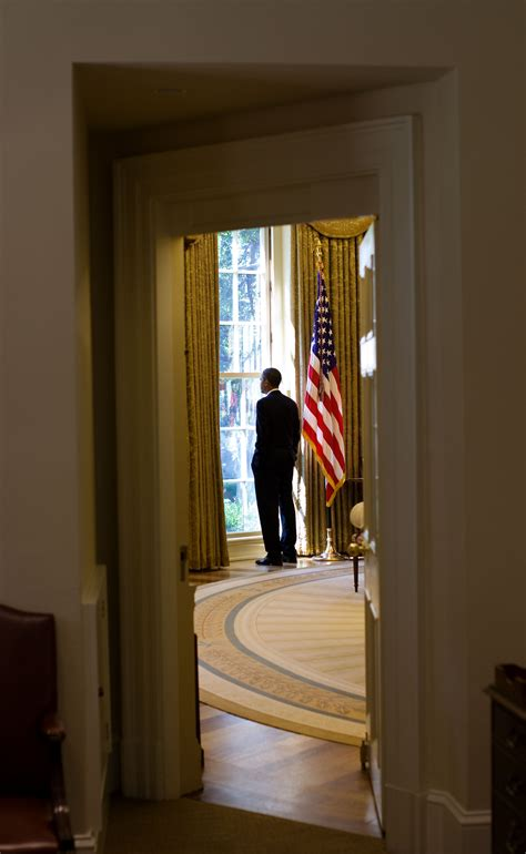 oval office windows free public domain image president barack obama looking